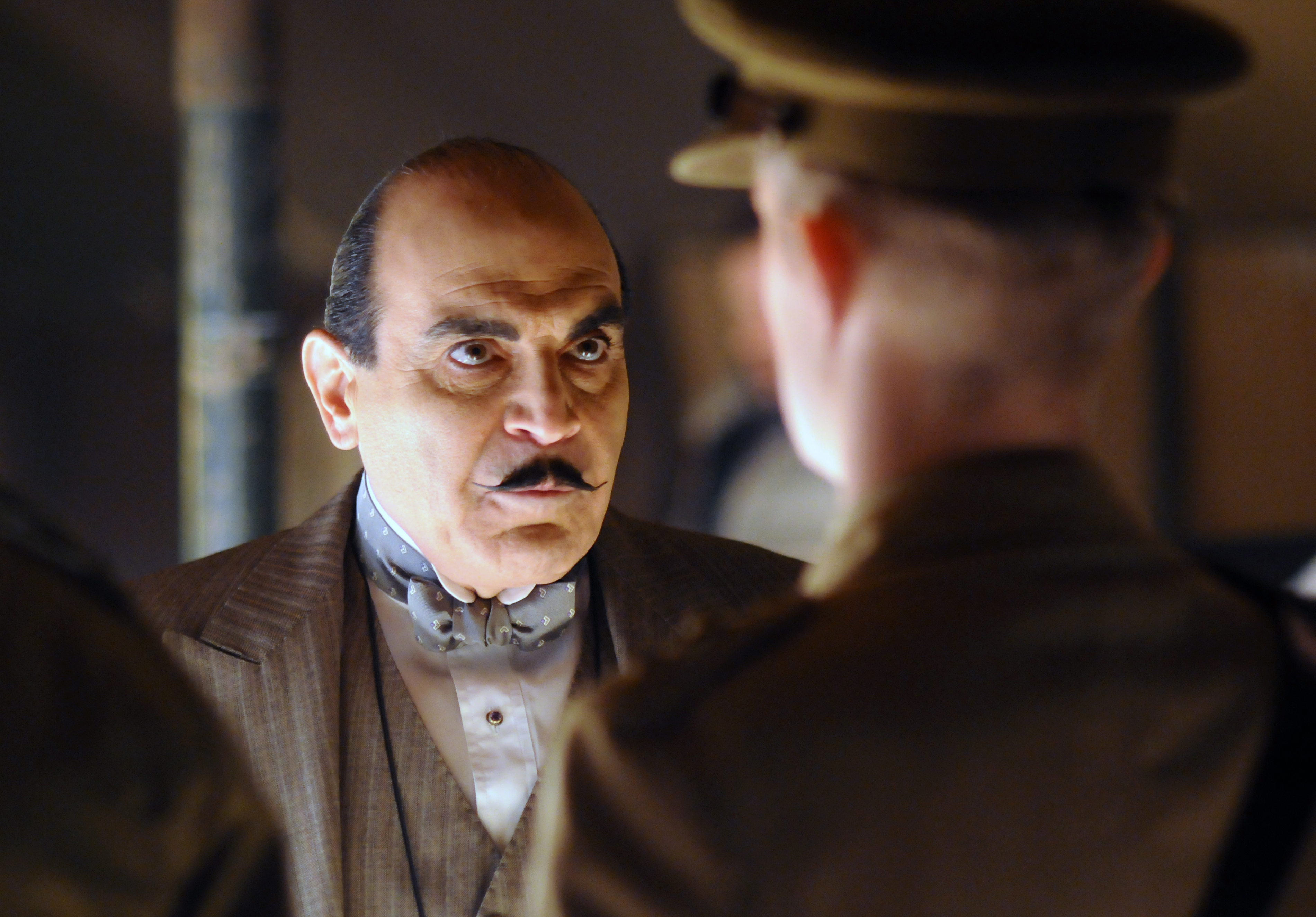 David suchet who has made the role of hercule poirot his own