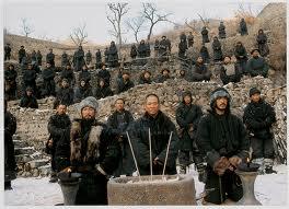 Andy Lau, Jet Li and Takeshi Kaneshiro swear the oath as blood brothers