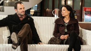 Sherlock Holmes (Jonny Lee Miller) and Dr Joan Watson (Lucy Liu) now formally a partnership
