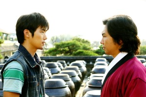 Sung-Chan (Kim Kang-Woo) and Bong Joo (Lim Won-Hee) square off