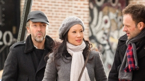 John Hannah, Lucy Liu and Jonny Lee Miller