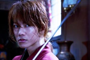 Kenshin Himura (Takeru Sato) with the iconic scar