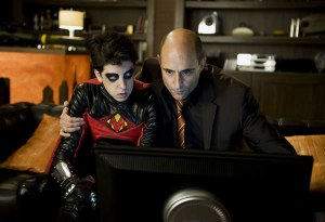 Mark Strong and Christopher Mintz-Plasse loving every minute as villains