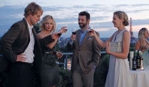 Owen Wilson, Rachel McAdams and Michael Sheen in the now