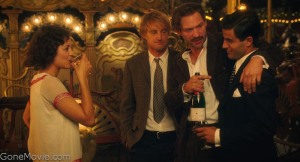 Marion Cotillard, Owen Wilson and Corey Stoll in the then