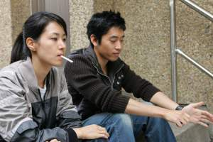 Shin_Eun-Kyung and Moon Jung-Hyuk take a beak