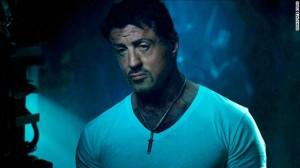 Sylvester Stallone still acting the tough guy