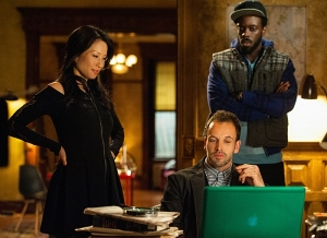 Lucy Liu, Jonny Lee Miller and Ato Essandoh