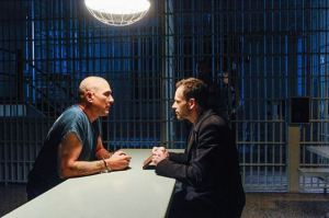Vinnie Jones and Jonny Lee Miller discuss the weather