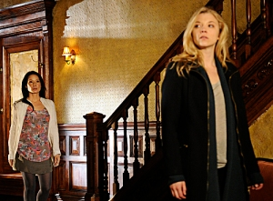 Lucy Liu gives Natalie Dormer the guided tour of the brownstone