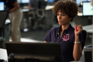 Halle Berry taking the call