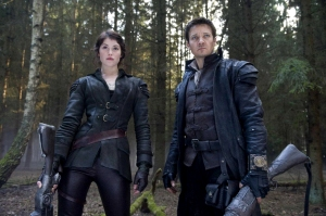 Jeremy Renner and Gemma Arterton ready for battle