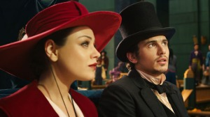 Mila Kunis and James Franco get the show on the road