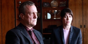 Stephen Tompkinson and Caroline Catz