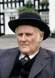 Peter Vaughan wearing a thoroughly Australian hat