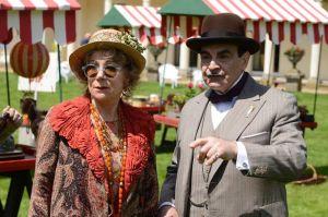 Poirot (David Suchet) and Ariadne Oliver (Zoë Wanamaker)