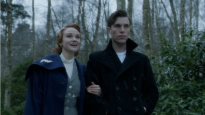 Joanna Venderham and Tom Hughes survey Gypsy's Acre