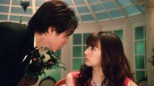 Kageyama (Sho Sakurai) confronts Reiko Hosho (Keiko Kitagawa)