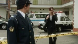 Reiko Hosho (Keiko Kitagawa) arrives for work