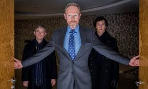 Benedict Cumberbatch, Martin Freeman and Lars Mikkelsen explore