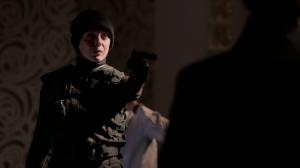 Mary (Amanda Abbington) showing off nifty headware