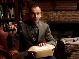 Sherlock Holmes (Jonny Lee Miller) offering DIY trepanning