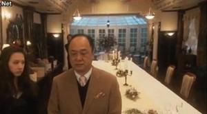 Reiko Hosho (Keiko Kitagawa) talks hats over dinner