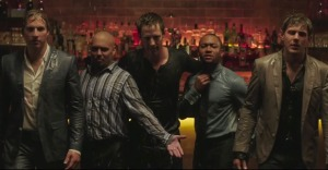 Dick, Weevil, Logan, Wallace, and Piz showing how reunions end